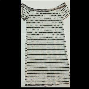 Rue21 off the shoulder striped minidress